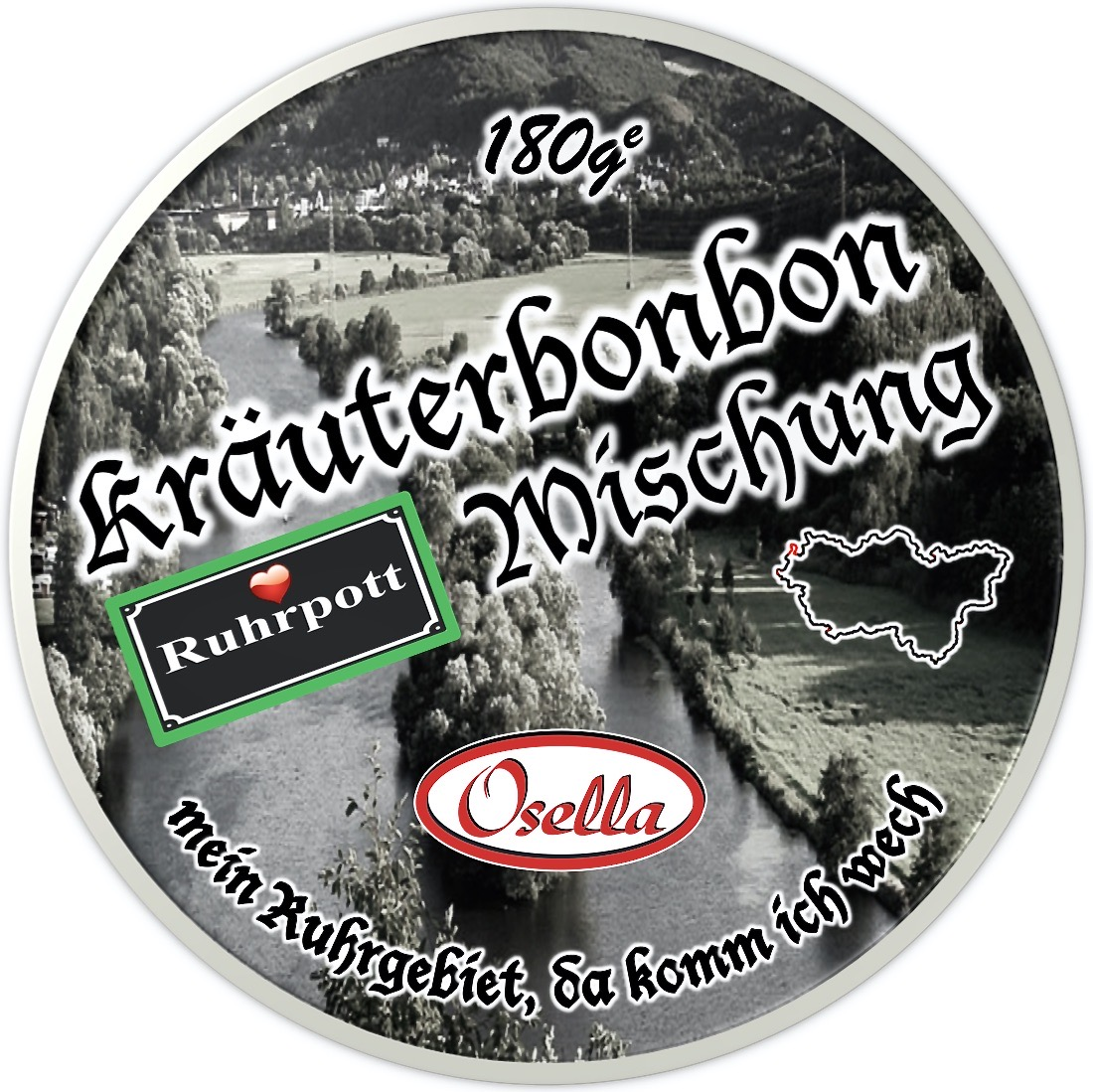 Osella Bonbons Etiketten - Kräutermischung